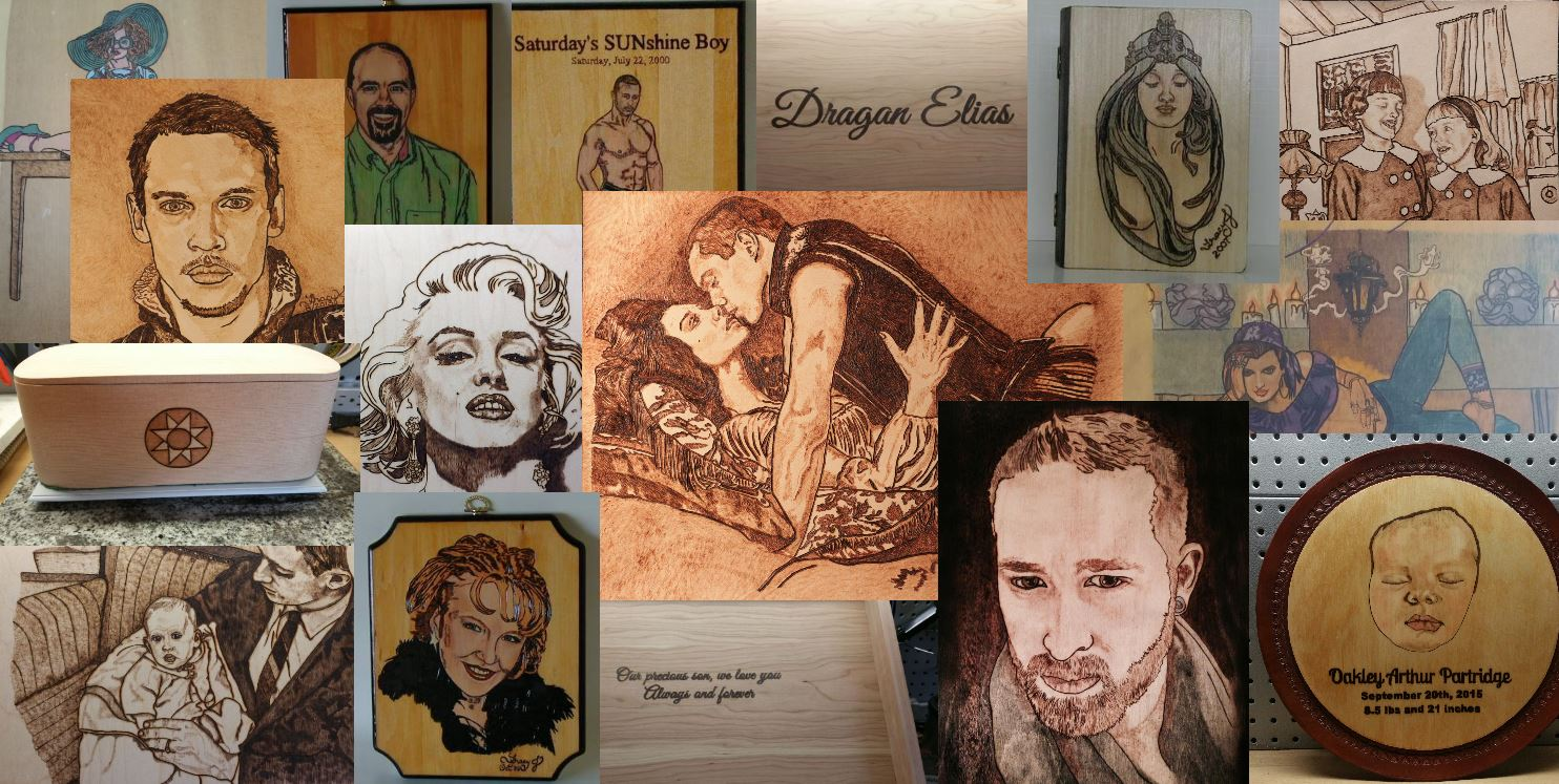 Portland Pyrography Private Client Collage