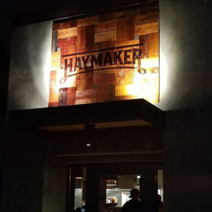 Haymaker Bar and Grill Exterior Sign - Installed - November 2017