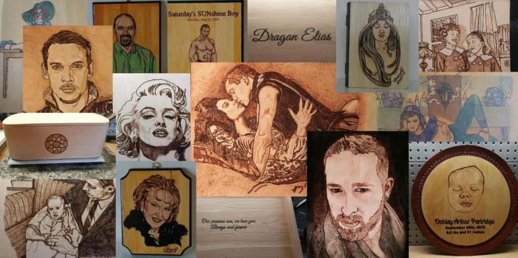 Pyrography Portrait Collage