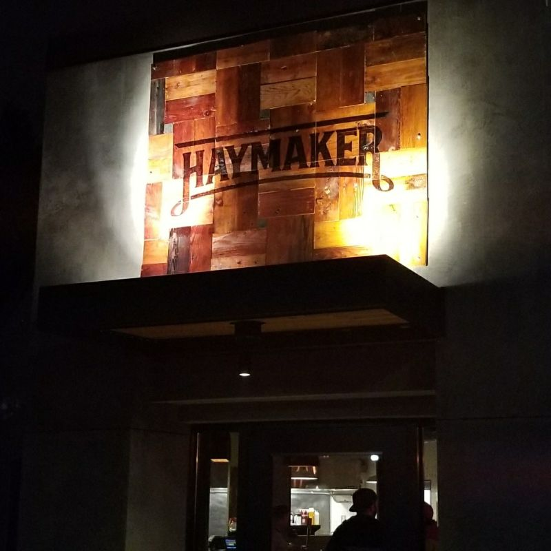Haymaker Exterior Sign - Installed