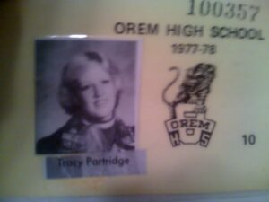 Tracy - Orem HS Student ID Card - 1977-78 - Age 15-16