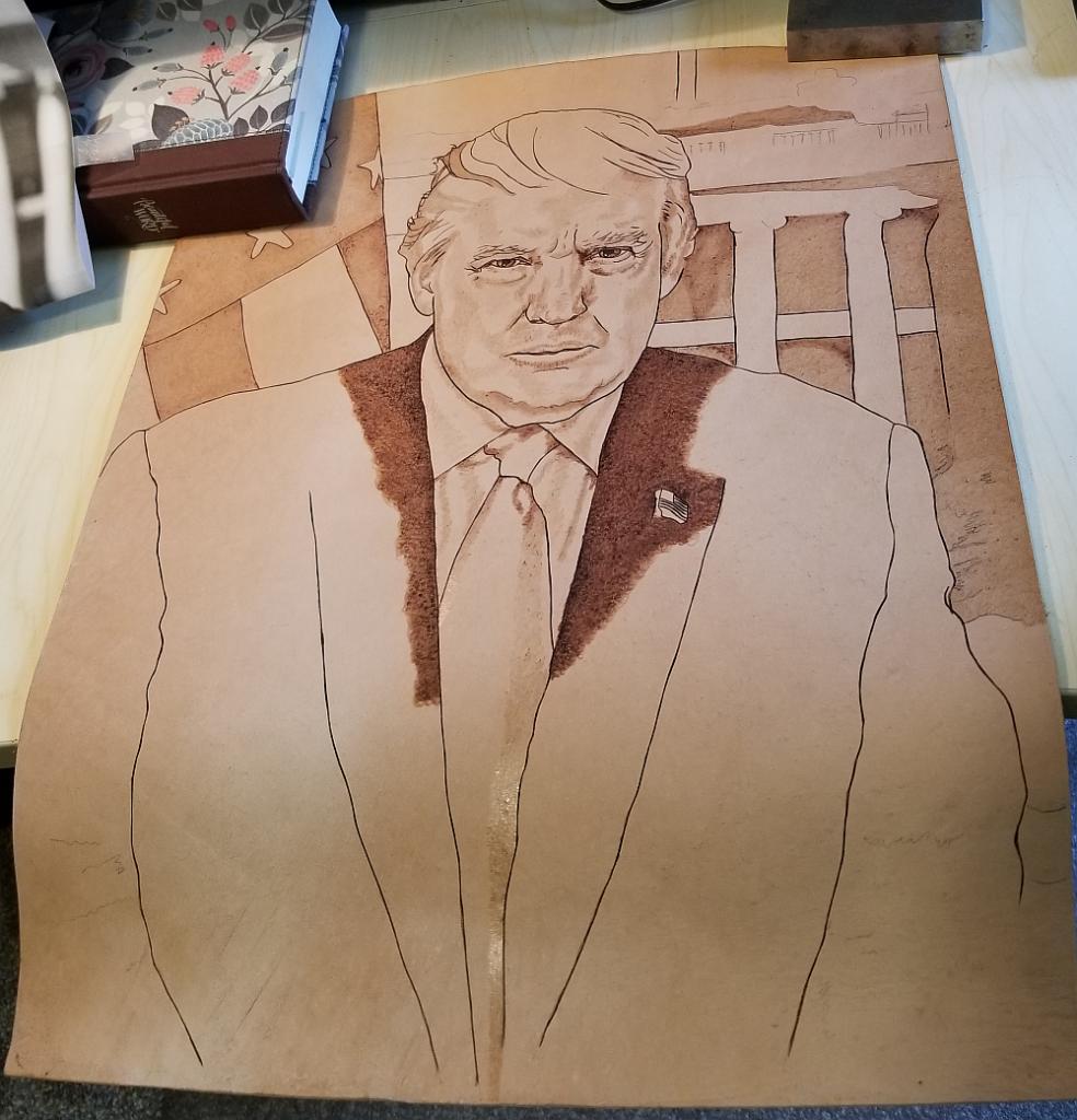 Donald Trump - Presidential Portrait -Initial Image
