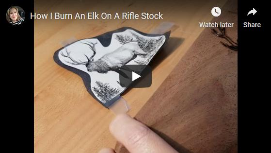 How I Burn An Elk On A Rifle Stock