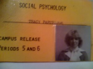 Tracy - Orem HS Social Psychology Campus Release Card - About age 15-16