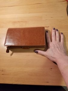 Back Side of First Wallet - Wrong Type of Leather