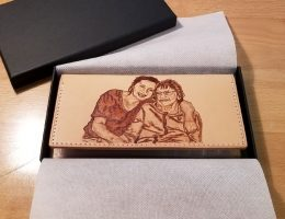 Lady's Leather Portrait Wallet - Gift Boxed